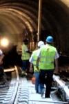 Trabalhadores No Túnel Do Metro De Lisboa